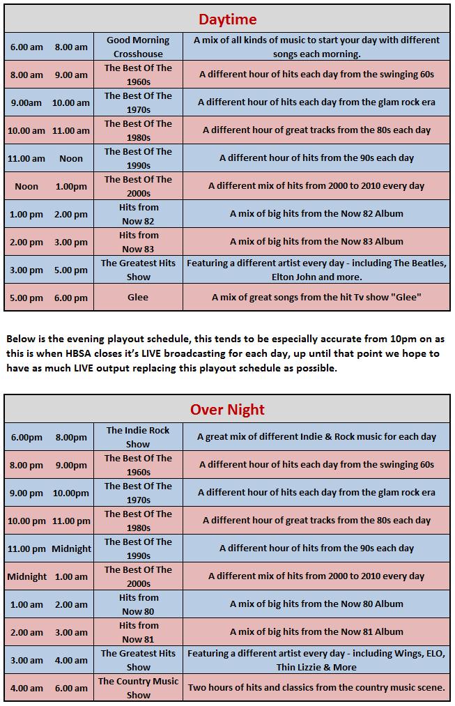 Rec Schedule